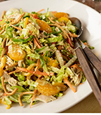 Chinese Chicken Salad with Napa Cabbage and Toasted Sesame Seeds
