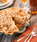 Gravenstein Apple Crumble Top Pie