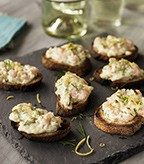 Shrimp Crostini with Fresh Dill