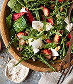 Spinach Strawberry Salad with Marcona Almonds