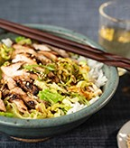 Teriyaki Chicken with Savoy Cabbage and Scallions