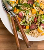 Asian Noodle Salad with Fresh Mango and Beef Filet