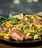 Recipe Image of Grilled Chicken with Corn and Green Chili Salsa