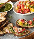 Recipe Image of Fresh Garden Tomato Bruschetta