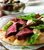 Recipe Image of Grilled Steak and Fresh Mozzarella Flatbread