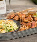 Asian Chicken Wings with Shredded Cabbage Slaw