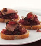 Red Onion Marmalade & Pork Canapes