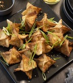Crab Wontons with Seasame Soy Dipping Sauce